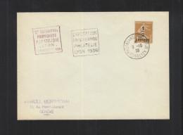 Couvert 2e Exposition Propagande Philatelique Lyon 1938 - Poststempel (Briefe)