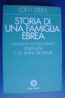 PFY/20 Edith Stein STORIA DI UNA FAMIGLIA EBREA Città Nuova Ed.1999 - Italiano
