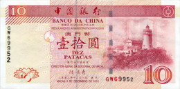 Macau 10 Patacas 2003 Pick 102 UNC - Macao