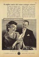 # FEDERATION SUISSE FABRICANTS  HORLOGERIE 1950s Italy Advert Publicitè Reklame Orologio Montre Uhr Reloj Relojo Watch - Orologi Pubblicitari