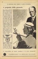 # FEDERATION SUISSE FABRICANTS  HORLOGERIE 1950s Italy Advert Publicitè Reklame Orologio Montre Uhr Reloj Relojo Watch - Montres Publicitaires