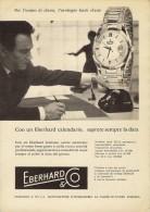 # EBERHARD & Co. SUISSE HORLOGERIE 1950s Italy Advert Publicitè Reklame Orologio Montre Uhr Reloj Relojo Watch - Montres Publicitaires