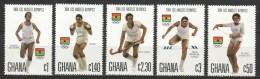 Ghana 1984 Mi 1048-1052 MNH OLYMPICS - Zomer 1984: Los Angeles