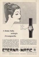 # ETERNA-MATIC GRENCHEN SUISSE HORLOGERIE 1950s Italy Advert Publicitè Reklame Orologio Montre Uhr Reloj Relojo Watch - Werbeuhren