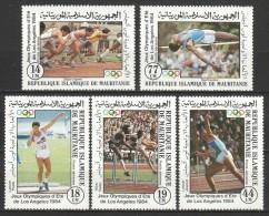 Mauretania 1984 Mi 821-825 MNH OLYMPICS - Zomer 1984: Los Angeles