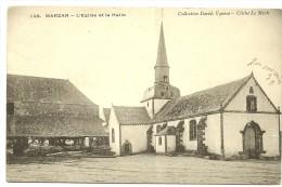 MARZAN- L'Eglise Et La Halle - France