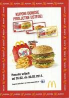 McDonalds Flyer / Coupon, 2014., Croatia - McDonald's