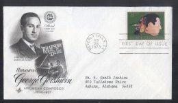 United States 1973 George Gershwin FDC K.690 - 1971-1980