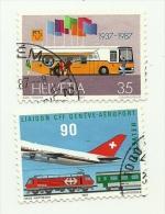 1987 - Svizzera 1269 + 1272 Avvenimenti C3437, - Schweiz