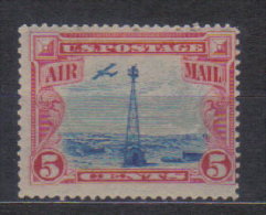 USA Mi 310 Air Mail Stamp , Tower Sherman Hill 1928 MH  Mint Light Hinged - Air Mail