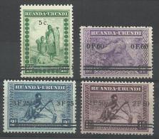 RUANDA URUNDI 114/117 xx ( COB ) COTE :  100 EURO