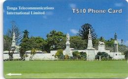 Tonga - Royal Tombs (NEW LOGO), 36CTGB, 01-2000, Used