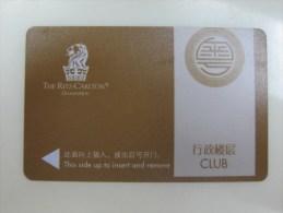 The Ritz-Carlton Guangzhou, Club Floor, Edge Of Backside Tiny Damaged - Hotel Keycards