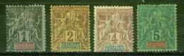 Guadeloupe Et Dépendances - GUADELOUPE - Légende En Rouge Et En Bleu - 1892 - Guadeloupe (1884-1947)