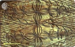 Tonga - Textures Of Tonga Brown, 2CTGC, 1994, 5.000ex, Used - Tonga