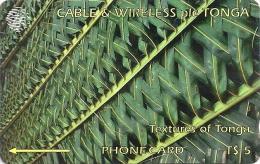 Tonga - Textures Of Tonga Green, 2CTGA, 1994, 15.000ex, Used - Tonga