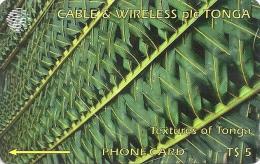 Tonga - Textures Of Tonga Green, 129CTGA, 1997, 10.000ex, Used - Tonga