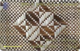 Tonga - Textures Of Tonga White & Brown, 65CTGA, 1996, 10.000ex, Used - Tonga