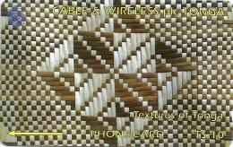 Tonga - Textures Of Tonga White & Brown, 154CTGA, 1997, 15.000ex, Used - Tonga
