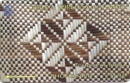 Tonga - Textures Of Tonga White & Brown, 228CTGA, 1998, 10.000ex, Used - Tonga