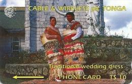 Tonga - Traditional Wedding Dress, 1CTGB, 1994, 5.000ex, Used