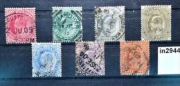 In2944 Alte Indische Briefmarken - König  Edward VII, Indien 1902-09 - Ohne Zuordnung