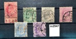 In2947 Alte Indische Briefmarken - König  Edward VII, Indien 1902-09 - Ohne Zuordnung
