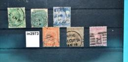 In2973 Alte Indische Briefmarken - Queen Victoria, Indien 1882-87 - Ohne Zuordnung