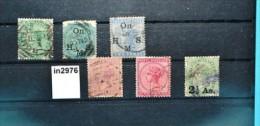 In2976 Alte Indische Briefmarken - Queen Victoria, Indien 1873-76 - Ohne Zuordnung