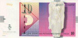 Macedonia 10 Denar 2001 Pick 14 UNC - Macedonia