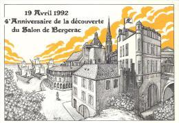 C.P  BERNARD VEYRI . AVRIL 1992 .SALON BERGERAC..TBE...200 EXP .SCAN. - Veyri, Bernard