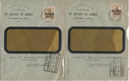 TP Oc 15 s/2 Lettre publicitaire S.A. Charbonnages du Levant du Fl�nu c.Cuesmes en 1917 censure Etappe&bancaire PR943