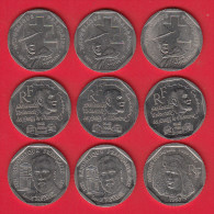 2 Francs Semeuse Nickel - Lot De 9 Pièces Commémoratives - Voir Descriptif - France
