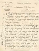 FACTURE LETTRE : TOULOUSE . ANCIENNE MAISON L.A OLIVIER . MARIUS CLASTRE . 1899 - Frankrijk