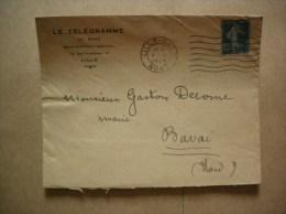 LILLE LE TELEGRAMME DU NORD GRAND QUOTIDIEN REGIONAL 19 RUE FAIDHERBE ENVELOPPE DU 4 XI 1924 - France