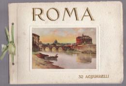 Italie   ROME   Petit Livre Avec 32 Aquarelles     ROMA   32 Acquarelli - Watercolours