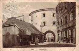 Alte AK   RIED / OÖ  - Braunauertor - Gelaufen Ca. 1912 - Ried Im Innkreis