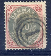 ##K145. Denmark 1875. Michel 28II Reverse Watermark. Postmark Nr.1 = Copenhagen. Used(o). See Description! - Used Stamps