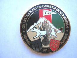 RARE COIN BI FACE DE LA GENDARMERIE NATIONALE OPEX AFGHANISTAN LES POMLT 2010 GENDARMERIE MOBILE 1/3 RENNES PONTIVY
