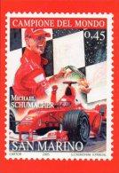 [DC0726] CARTOLINEA - MICHAEL SCHUMACHER - FORMULA 1 - DEDICATO ALLA FERRARI - RIPRODUZIONE FRANCOBOLLO SAN MARINO - Grand Prix / F1