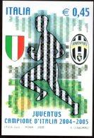 [DC0738] CARTOLINEA - JUVENTUS - CAMPIONE D´ITALIA 2004/2005 - 28° SCUDETTO - RIPRODUZIONE DEL FRANCOBOLLO EMESSO - Calcio