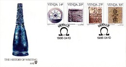 Venda - 1986 History Of Writing FDC # SG 139-142 , Mi 138-141 - Archeologia