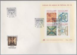 Portugal FDC 12-17.10.1984 500 Jahre Azulejos In Portugal - Block 46 - FDC