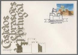 Portugal FDC 34-18.02.1986 Beja Portugiesische Burgen Und Schlösser - FDC