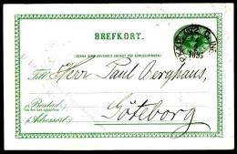 Entier Postal Suédois - Swedish Postcard - Circulé - Circulated - 1895. - Postal Stationery