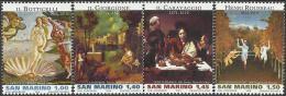 San Marino - 2010 - Art - Pictures Of Great Masters - Mint Stamp Set - San Marino