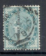 INDIA 1882 ½ Anna Surcharged ´Bombay Gazette´, Rare! - 1882-1901 Impero
