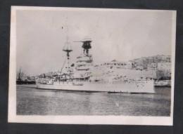 MALTA - H.M.S. REVENGE  IN THE GRAND HARBOUR OF MALTA   1920s - War, Military