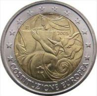 2005-ITALIA REPUBBLICA-2 EURO COSTITUZIONE EUROPEA-FDC Da Rotolino - Italia