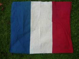 JOLI ANCIEN DRAPEAU FRANCAIS en coton imprim�